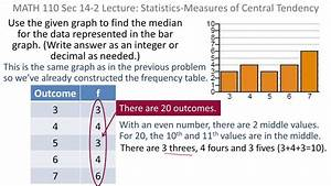 Statistics  Mean  Median And Mode From A Bar Graph