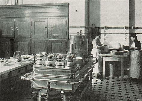 interior designed kitchens kitchen in the palace hotel wiesbaden 1905 1905
