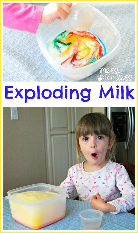 exploding milk experiment mess for less 711 | milk explosion fun1