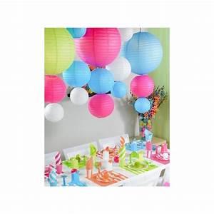 Boule Papier Deco : lanterne boule chinoise papier orange 50 cm boule ~ Teatrodelosmanantiales.com Idées de Décoration