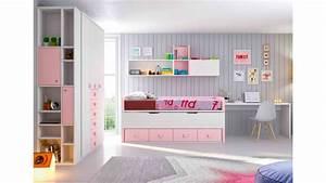 Chambre Complete Fille : chambre fille rose compl te personnaliser girly glicerio so nuit ~ Teatrodelosmanantiales.com Idées de Décoration