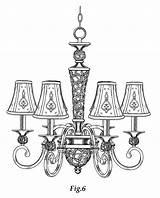 Chandelier Drawing Chandeliers Drawings Ceiling Result Lights Lamp sketch template