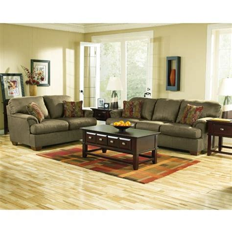 olive color couch in living room living room