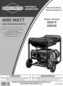 Briggs  U0026 Stratton 030319 User Manual Portable Generator