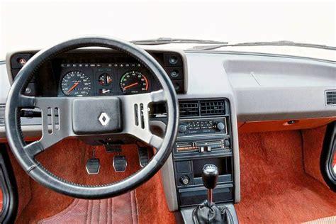 renault fuego interior renault fuego meer comfort dan vuur 1980 1987