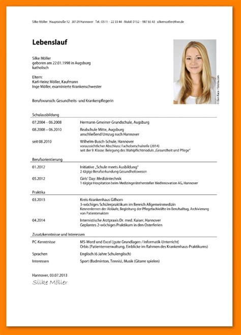 Lebenslauf Tabellarisch Vorlage by 18 Tabellarischer Lebenslauf Student Food Systems