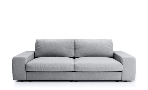 Big Sofa Hellgrau  Flachgewebe Brooke Hellgrau
