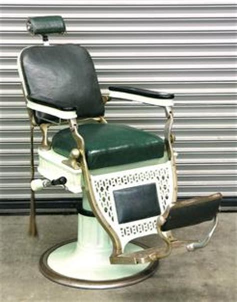Kochs Barber Chair History by Barber Chair Koch Theo Deco Enamel Nickel Plate