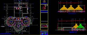Restaurant Project, Hotel 2D DWG Plan for AutoCAD