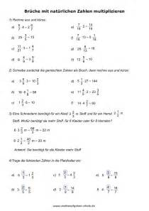 negative brüche mathe unterrichtsmaterial
