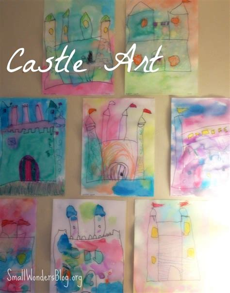 fairy tale crafts for preschool tale theme water color castles preschool at 751