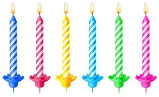 Happy Birthday Candles Clip Art