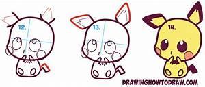How to Draw Cute / Kawaii / Chibi Pichu from Pokemon in ...