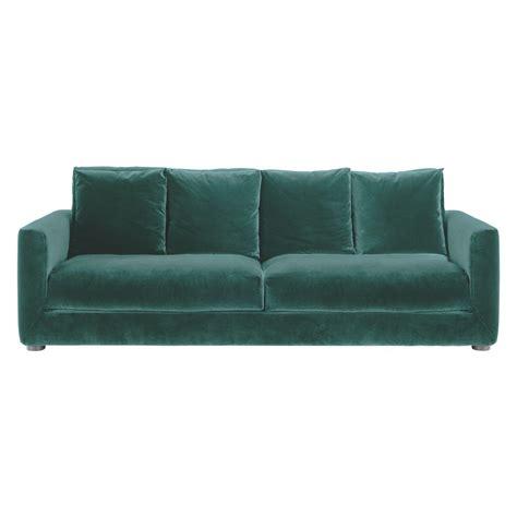 Velvet Sofa Bed by Rupert Emerald Green Velvet 4 Seater Sofa For The Home