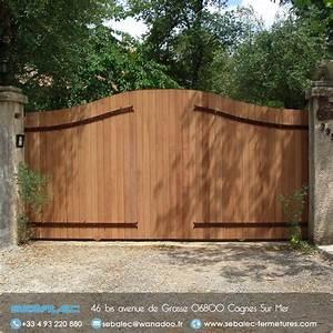 Portail En Bois : portail en bois kit portail coulissant carlier construction ~ Premium-room.com Idées de Décoration