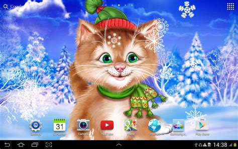 Winter Cat Live Wallpaper  Android Apps On Google Play