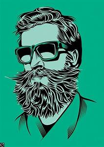 cool beard and mustache art print artwork graphic beards ...