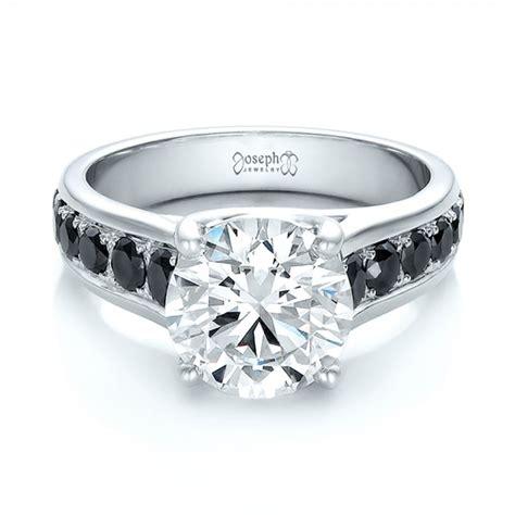 custom black and white engagement ring 100606 seattle bellevue joseph jewelry