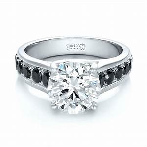 custom black and white diamond engagement ring 100606 With black and white diamond wedding ring