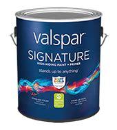 valspar signature brushed pearl finish paint