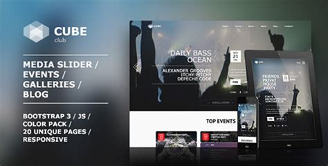 cube template theme forest themeforest club cube v1 0 0 responsive html5 theme