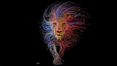 Lion Wires Art, Hd Artist, 4k Wallpapers, Images