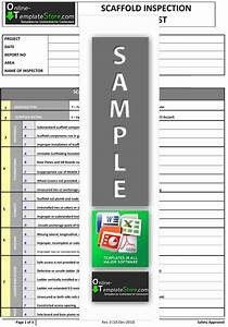 health safety forms construction templates With scaffold inspection checklist free template