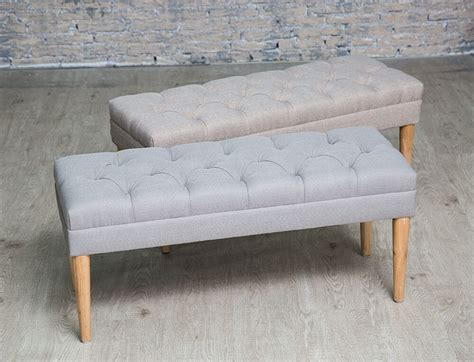 Fabric Bench button tufted upholstered fabric bench hallway bedroom