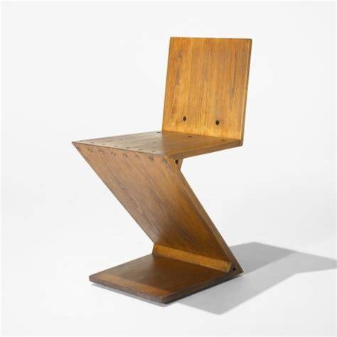chaise rietveld zig zag chair by gerrit rietveld 1932 c 1960 detnk