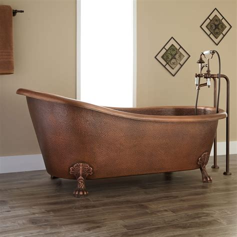 copper claw foot tub 66 quot donnelly hammered copper clawfoot slipper tub bathroom