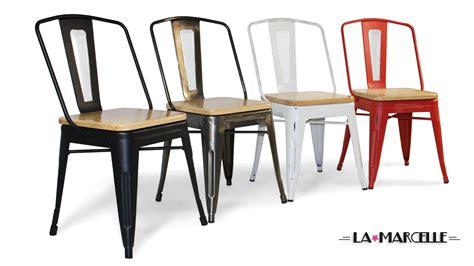 chaises métal chaise couleur