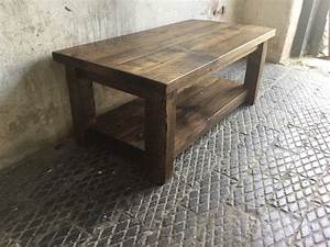 rustic coffee table with shelf reclaimed solid wood timber With rustic coffee table and tv stand