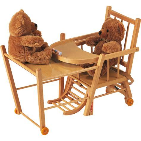 chaise de bébé chaise haute bébé transformable vernis naturel de combelle