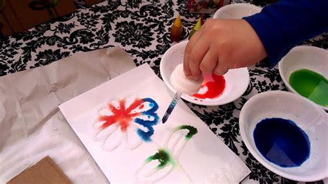 craft diy 3d salt painting summer activities