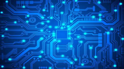 Blue Circuit Board Pswallpapers