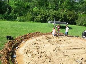 Preparation Terrain Pour Piscine Hors Sol Tubulaire : rien de tel qu 39 un lit de sable pour accueillir votre ~ Melissatoandfro.com Idées de Décoration