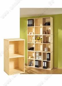 étagère Bois Brut : etag re en bois massif about non trait doppelbox ~ Melissatoandfro.com Idées de Décoration