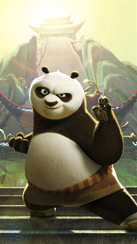 kungfu panda dreamworks animation art cute papersco