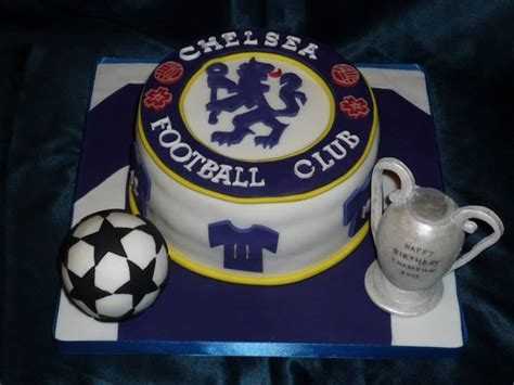 Chelsea Football Club Champions League Birthday Cake By