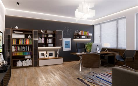 office interior design personal office room on behance Personal