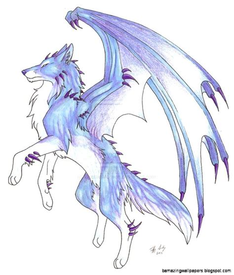 Anime Drawing Wallpaper - anime wolf with wings wallpapers gallery dragons