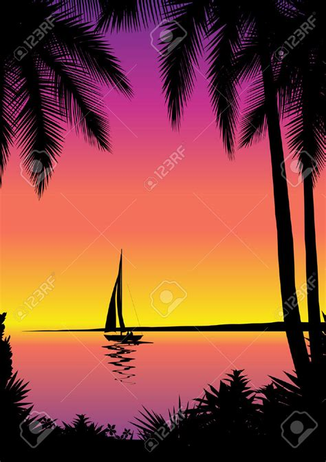 sunset boating clipart clipground