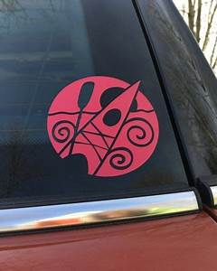 New  This Decorative Decal Shows Off Your Like Of Kayaking