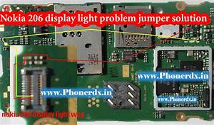 Nokia 206 Display Light Problem Jumper Solution