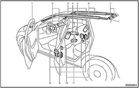nissan advanced air bag system front seats
