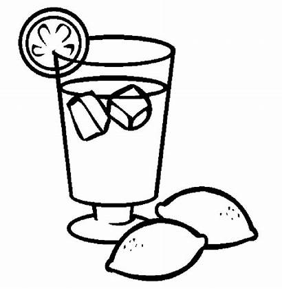 Juice Coloring Lemonade Lemon Drinks Pages Drawing