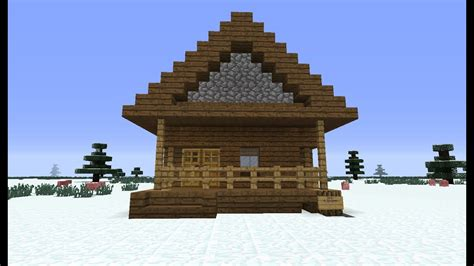 build  simple log cabin  minecraft lets play youtube