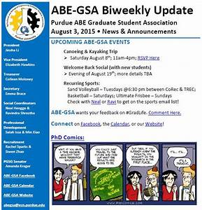 BiWeekly Newsletter 8/3/15 | ABE Graduate Student Association
