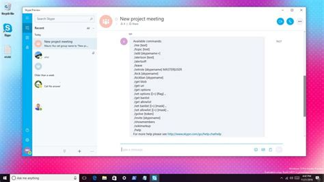 skype chat commands   device windows
