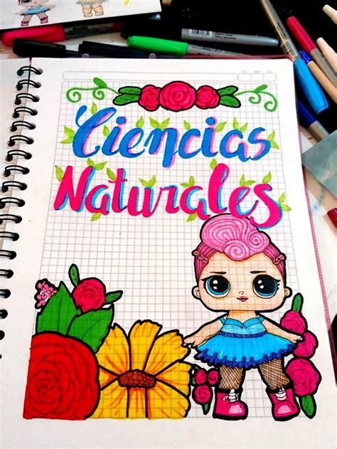 caratula marcos bordes munecas lol cuaderno ciencias naturales caratulas bordes marcos